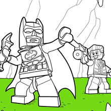Coloriage : LEGO Batman et Joker