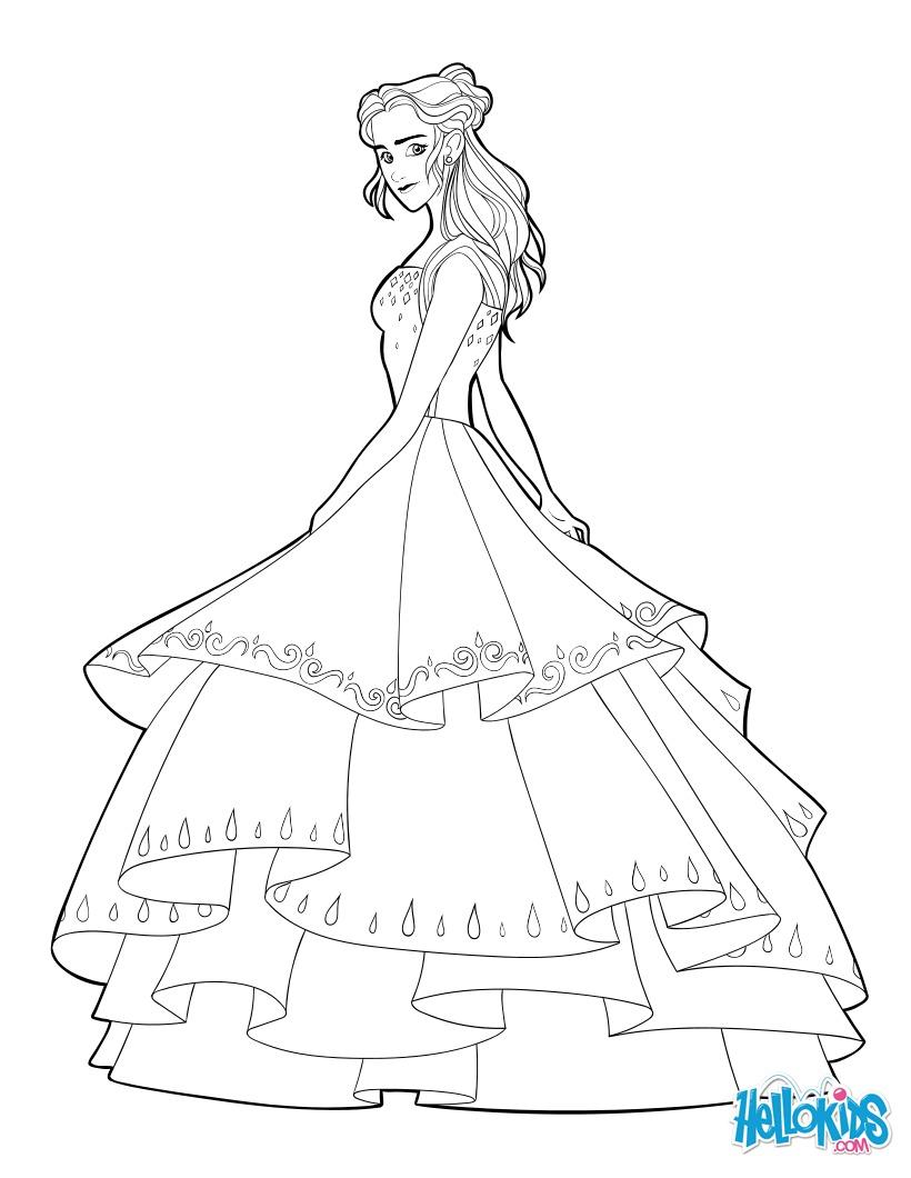 Coloriage : Belle