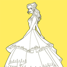 Coloriage : Belle