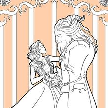 Coloriage Disney : La Belle et la Bête