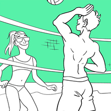 Coloriage : Le volley-ball