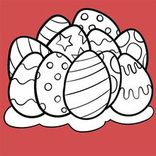 Coloriage : Oeuf de Pâques