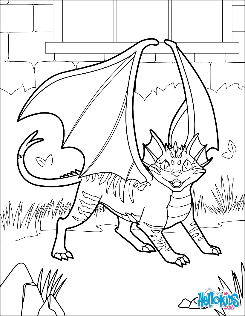 Coloriage : Chat dragon