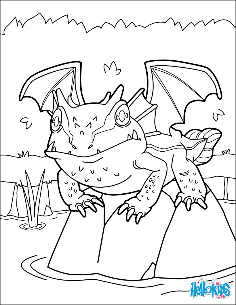 Coloriage : Lac Dragon