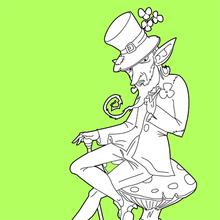Coloriage : Leprechaun mystérieux