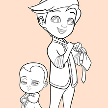 Coloriage : Baby boss et Tim
