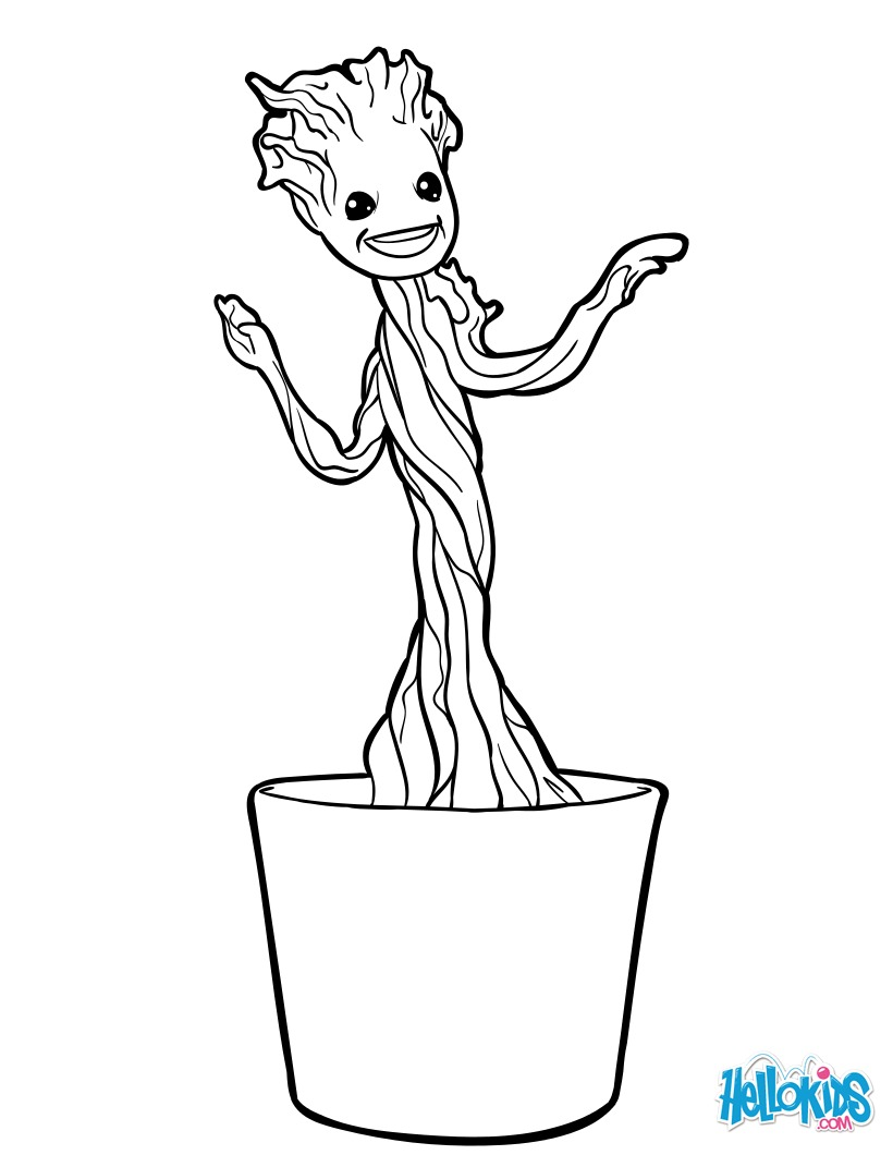 Coloriage : Petit Groot