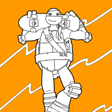 Coloriage : Tortues Ninja