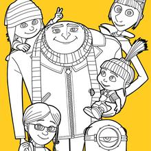 Gru et sa famille