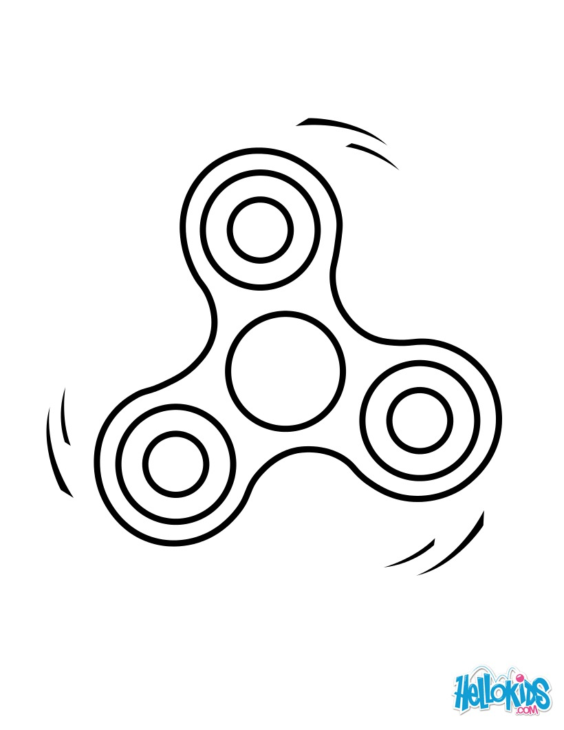 Coloriage : Fidget Spinner 2