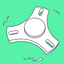 Coloriage FIDGET SPINNERS