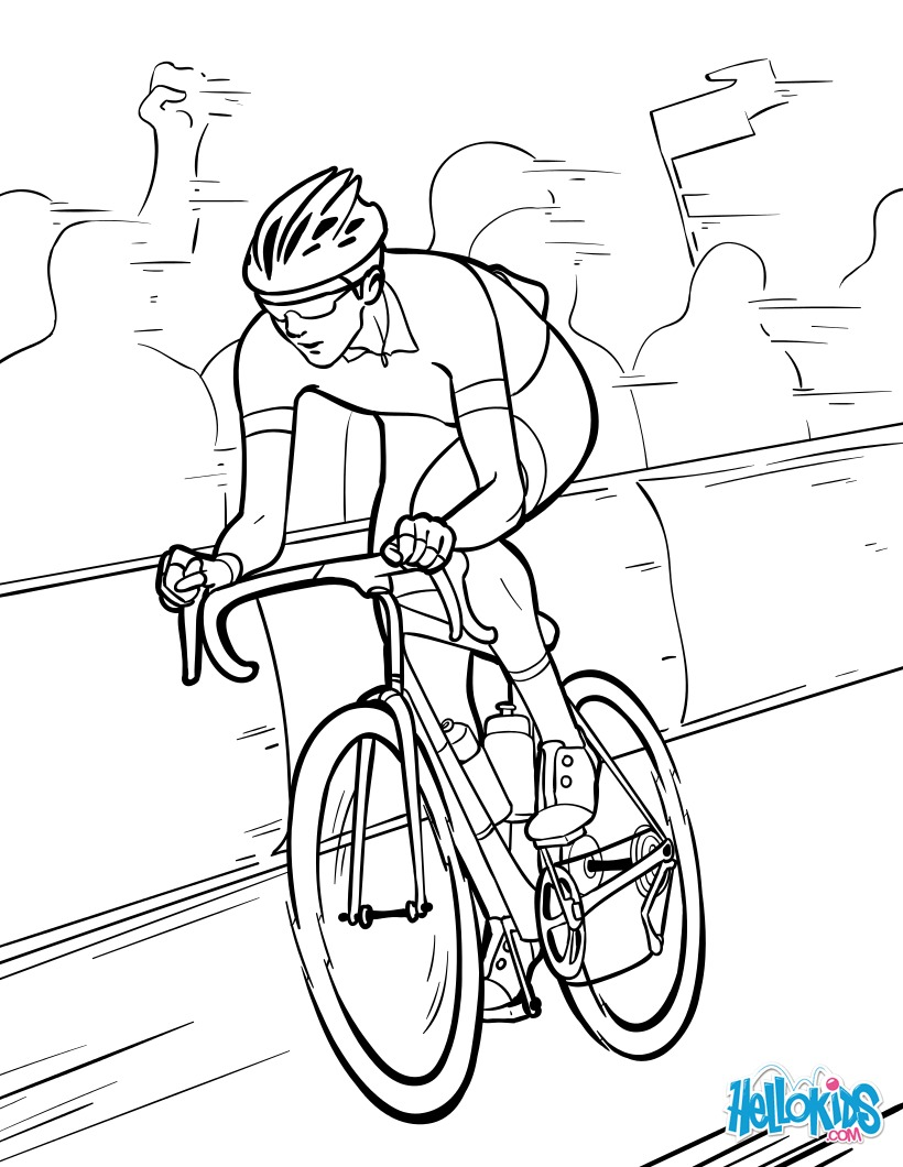 Coloriages coloriage tour de france - Cycliste dessin ...