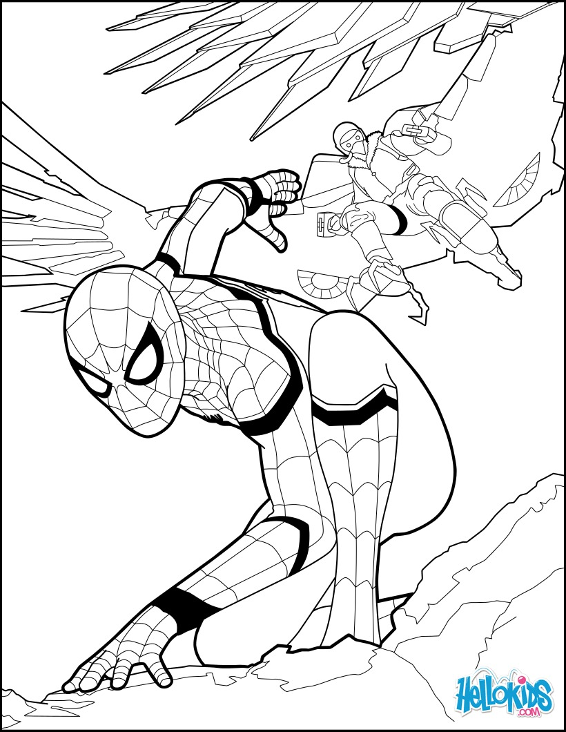 Coloriages spiderman homecoming 1 - Coloriage en ligne superman ...