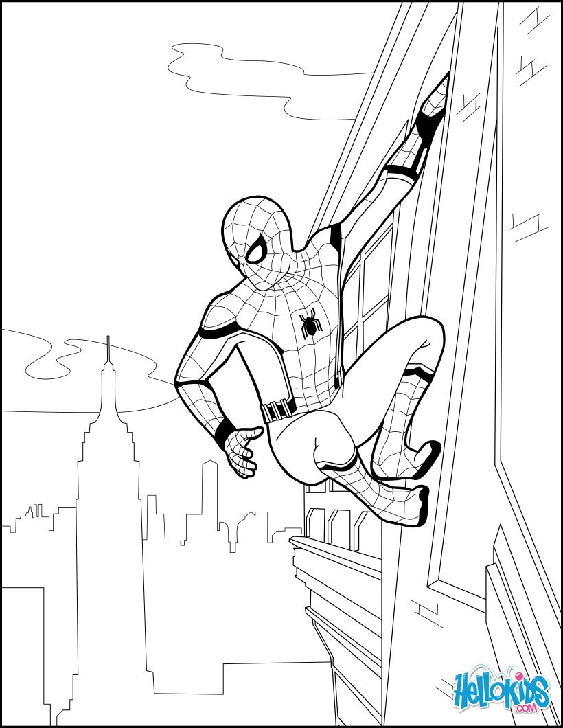 Coloriage : Spiderman Homecoming 2