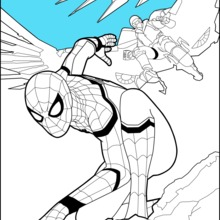 Coloriages Spiderman Homecoming 1 Fr Hellokids Com