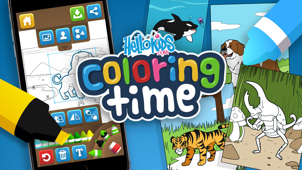 HelloKids Coloring Time app
