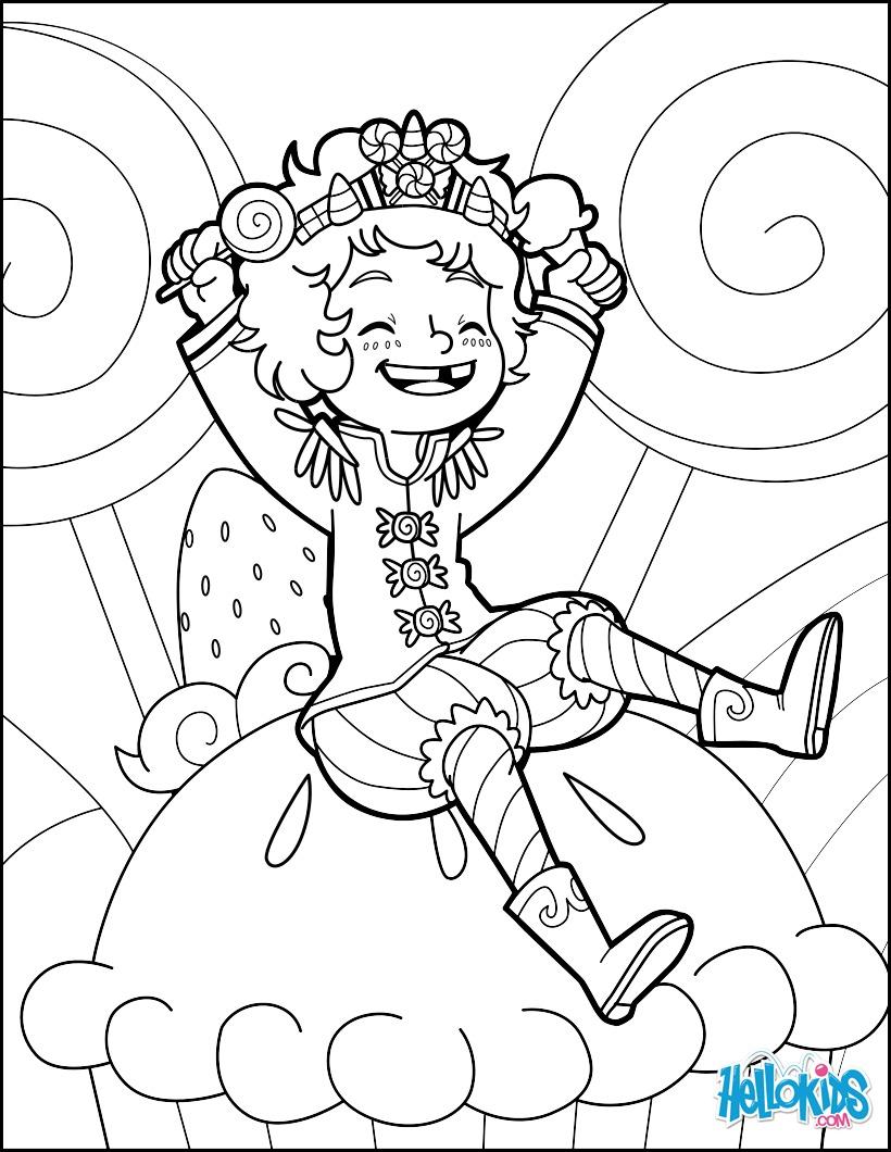 Coloriage : Prince Bonbon