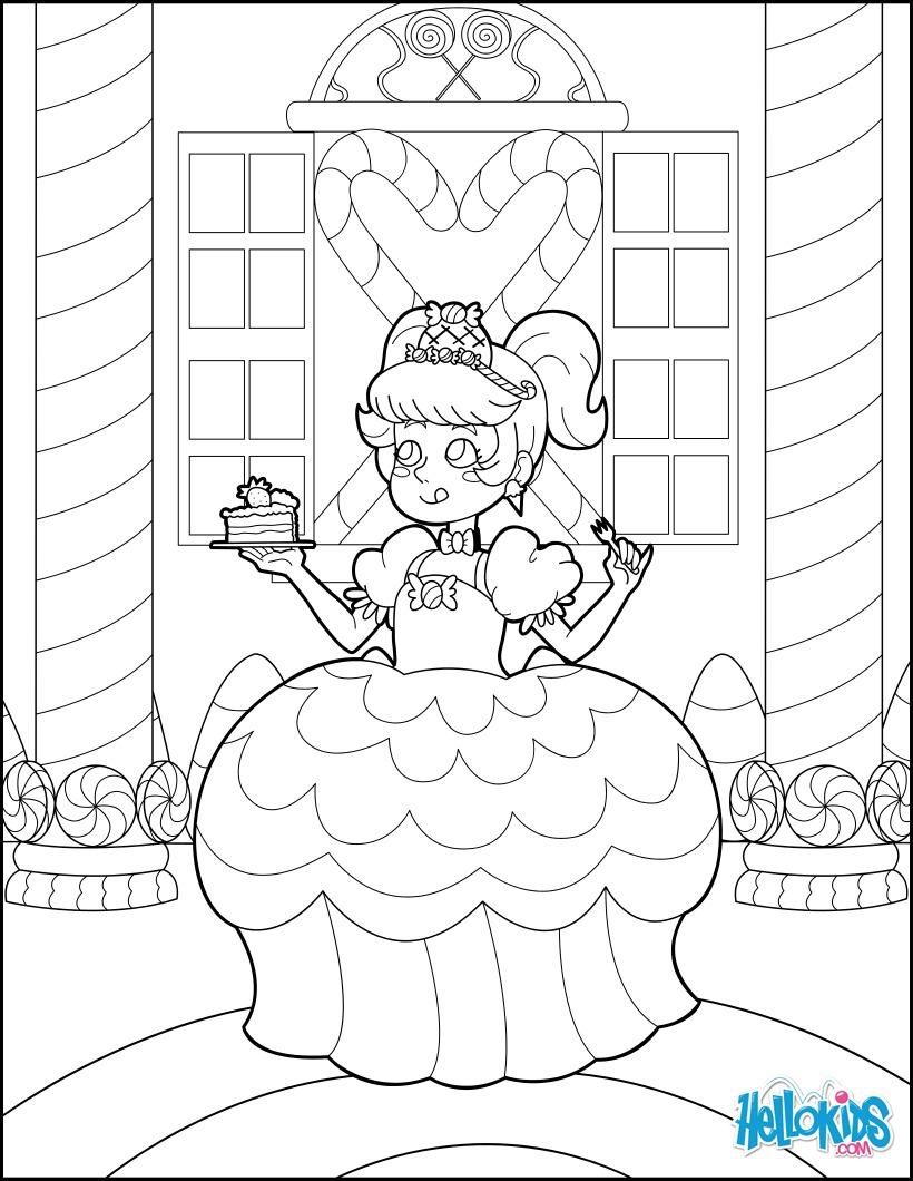 Coloriage : Princesse Bonbon