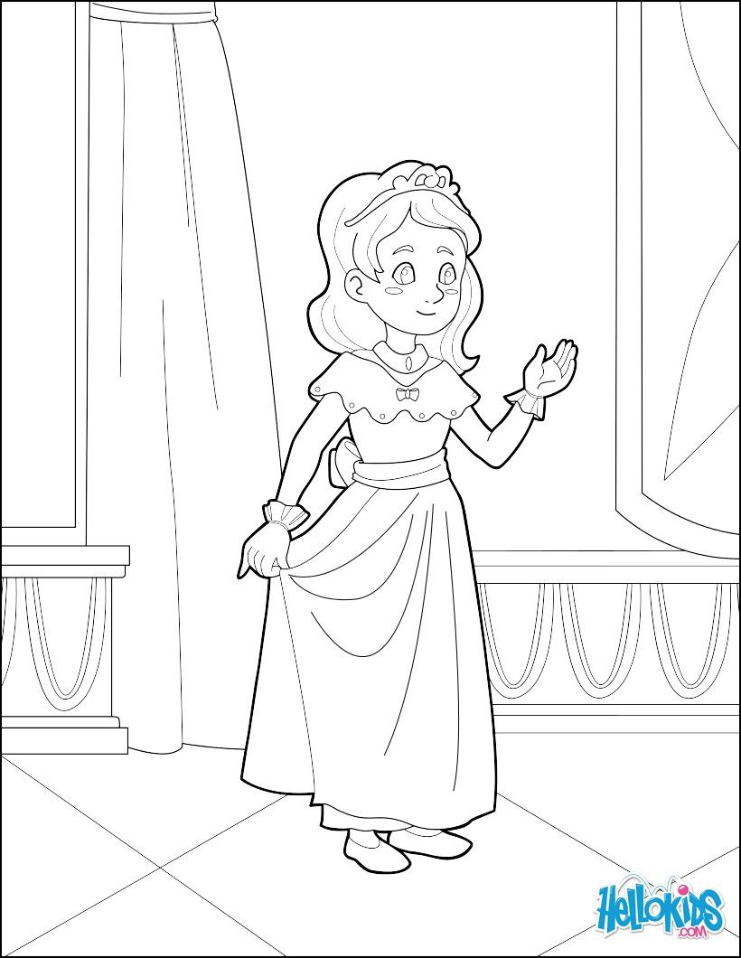 Coloriage : Jeune Princesse