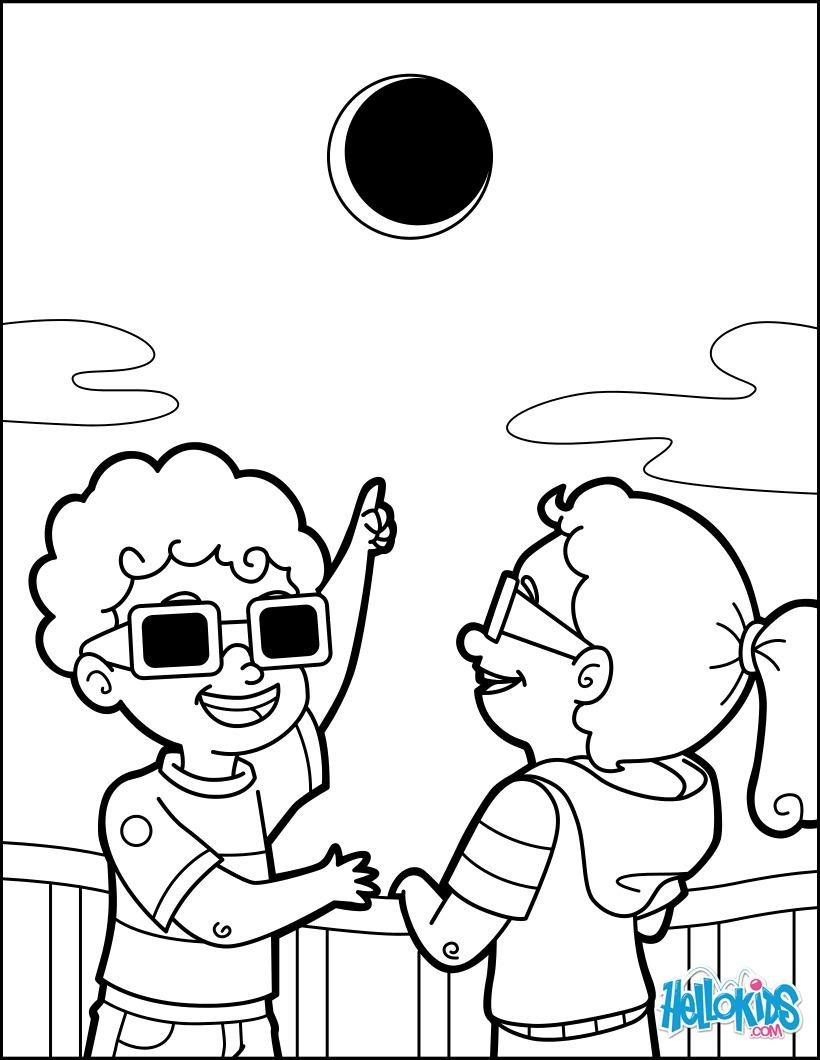 Coloriage : Eclipse