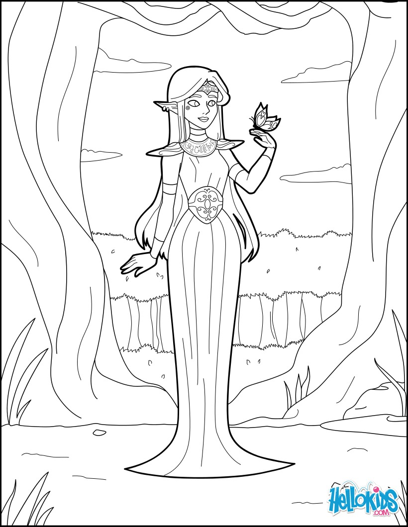 Coloriage : Princesse Elf
