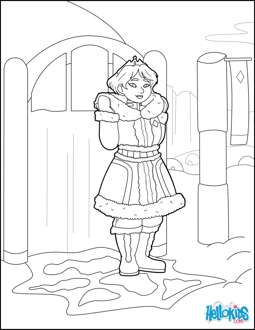 Coloriages princesse des neiges - Princesse des neiges ...