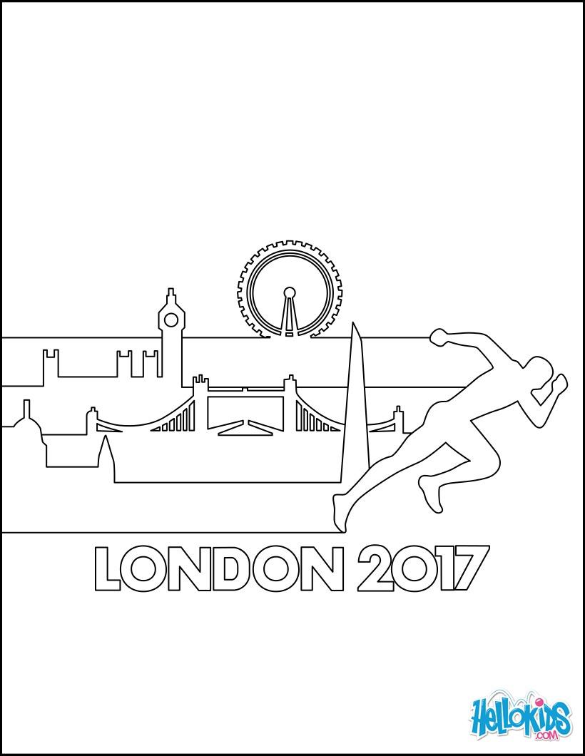 Coloriage : World Championships Athletics 2017