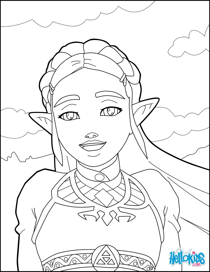 Coloriages Zelda Breath Of The Wild Fr Hellokids Com