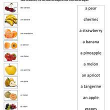 Histoire : Fiche Anglais Les Fruits