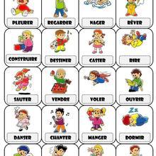 Histoire : Fiche Francais Les Verbes