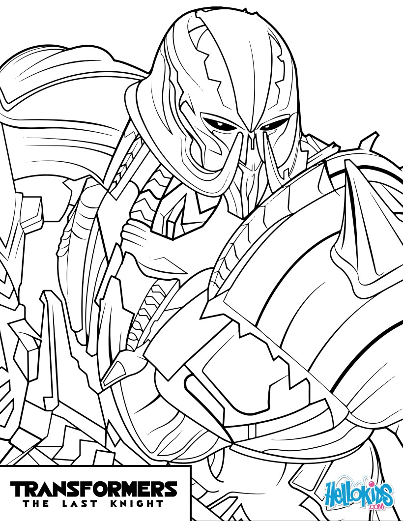 Coloriages transformers megatron - Dessin optimus prime ...