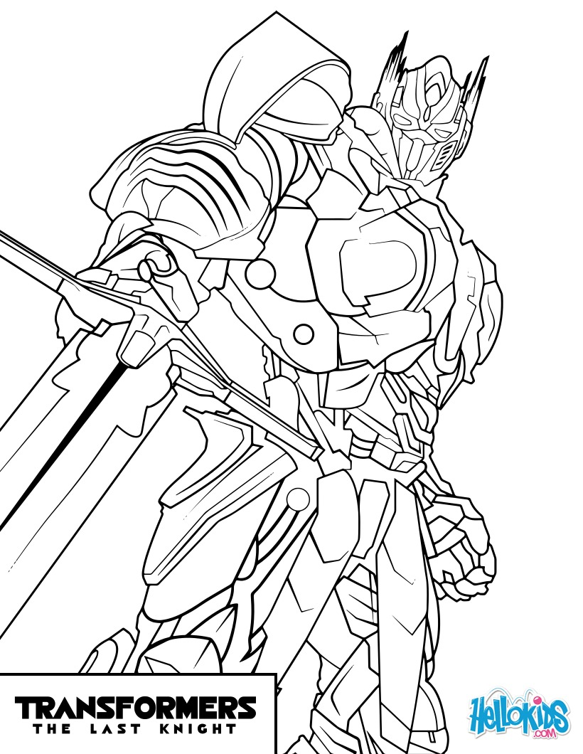 Coloriages transformers optimus prime - Coloriage transformers ...