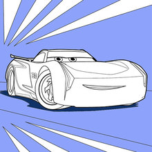 Coloriage Disney : Cars 3: Jackson Storm