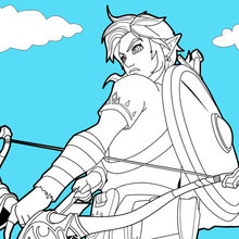 Coloriage De La Légende De Zelda Coloriages Coloriage à