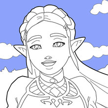 Coloriages Link Breath Of The Wild Fr Hellokids Com