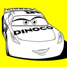 Coloriage Disney : Cars 3 Cruz Ramirez Dinoco