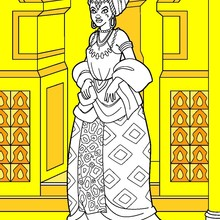 Coloriage : Princesse Africaine