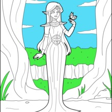 Coloriage : Princesse Elf