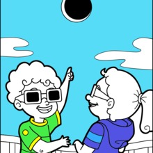 Coloriage : Eclipse