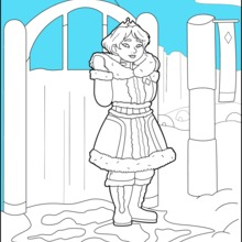 Coloriage : Princesse des Neiges