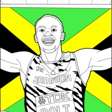 Coloriage : Bolt: World Championships Athletics 2017