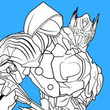 Coloriage : Transformers Optimus Prime