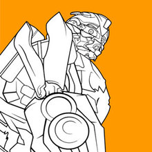 Coloriage : Transformers Bumblebee