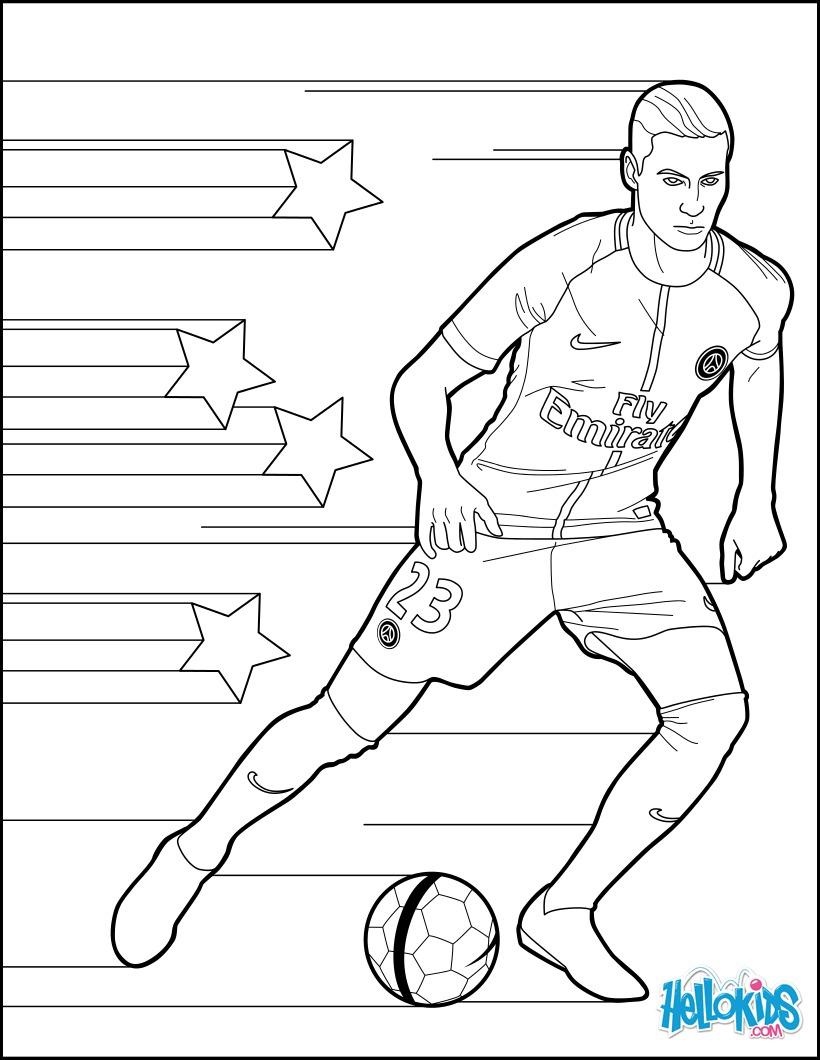 Coloriage footballeur colorier les enfants - Footballeur a colorier ...