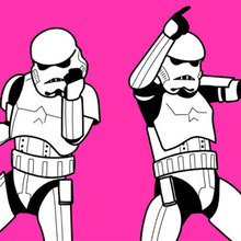 Coloriage Star Wars : Stormtroopers