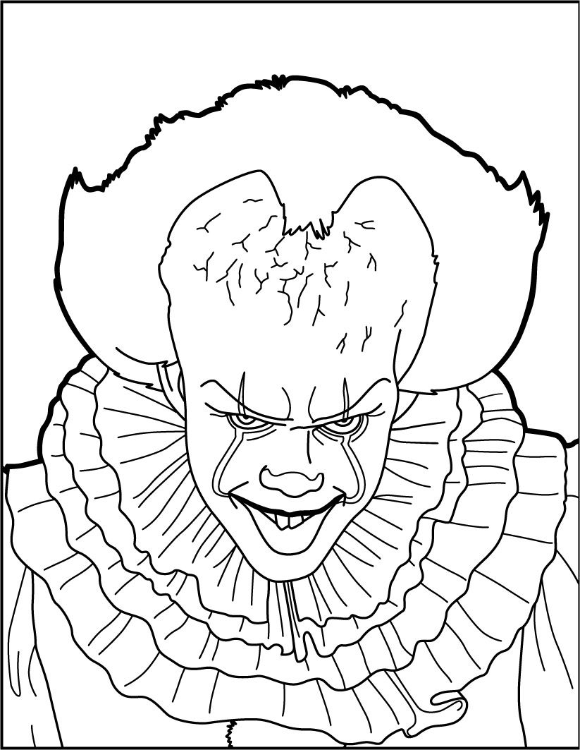 Coloriage : Ça: Pennywise