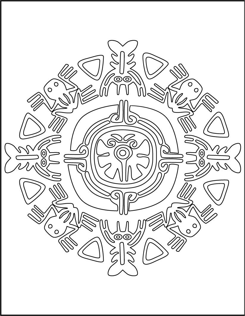 Coloriages mandala d 39 animaux de aztek - Animaux mandala ...