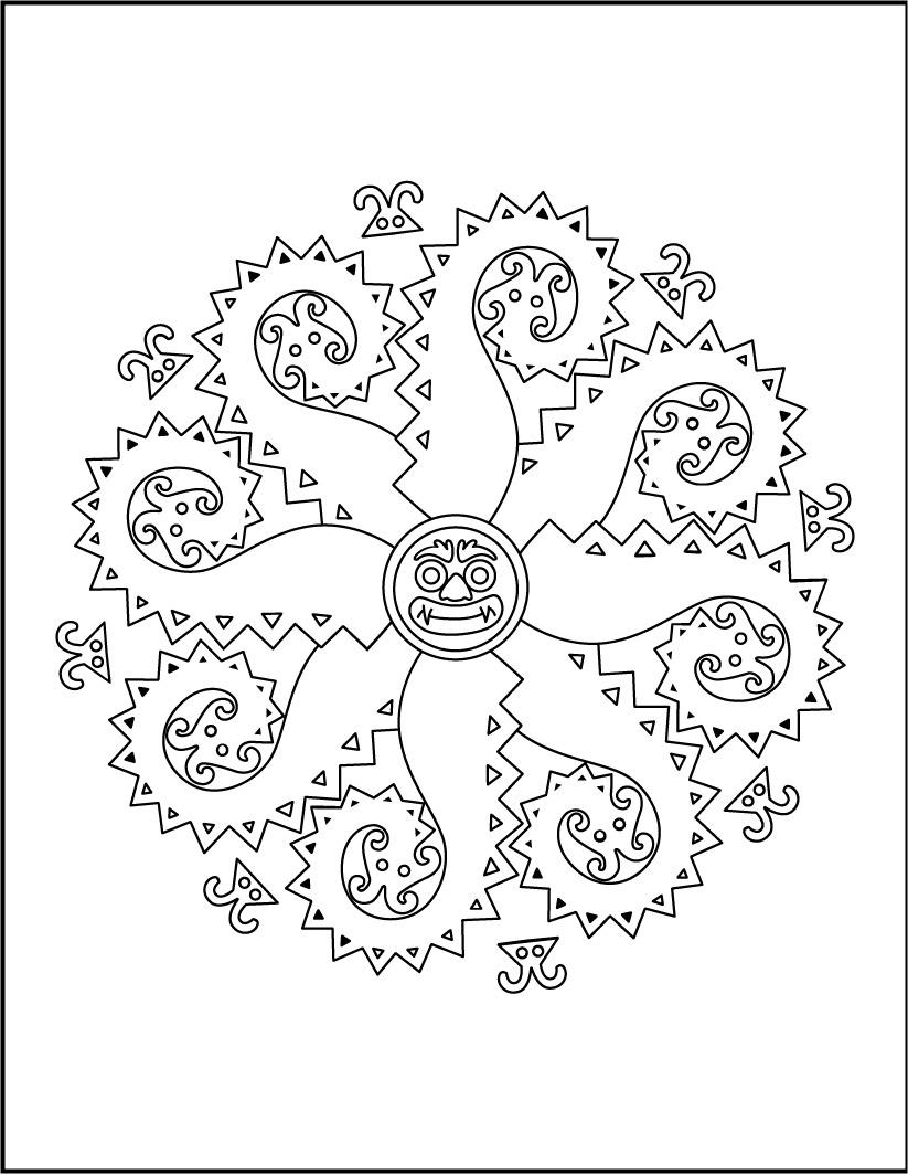 Coloriage Mandala Monstre.Coloriages Mandala Des Monstres Fr Hellokids Com