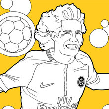 Coloriage : Footballeur Edinson Cavani