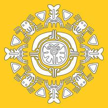 Mandala d'animaux de Aztek
